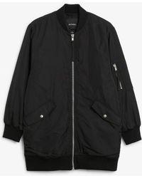 Monki Oversized Bomber Jacket - Black