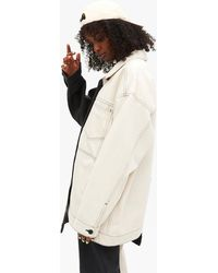 Monki Asymmetrical Denim Jacket - Black