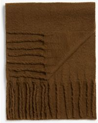 Monki Recycled Polyester Tassel Scarf - Natural