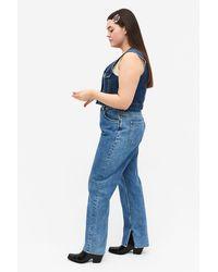 Monki Side Slit Jeans - Blue