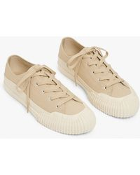 Monki Canvas Sneakers - Natural