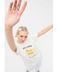 Monki - Statement Cotton T-shirt - Lyst