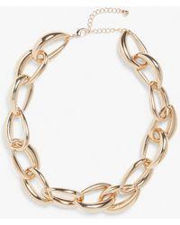 Monki Chunky Necklace - Metallic