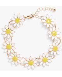 Monki Daisy Chain Bracelet - Metallic