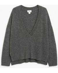 Monki Varsity Jumper - Grey