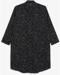 Monki Oversized Shirt Dress - Black