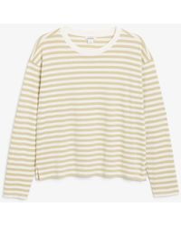 Monki Soft Long-sleeve Top - Natural
