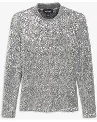 Monki Long-sleeve Sequin Top - Multicolour