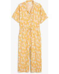Monki Oversized Jumpsuit - Yellow