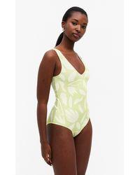 Monki One-piece Swimsuit - Green