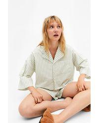 Monki Cotton Pyjama Set - White