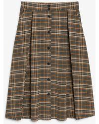 Monki - Pleated Midi Skirt - Lyst