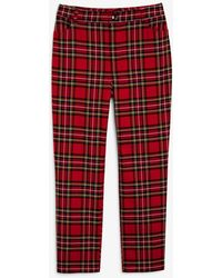 Monki Stretchy High-waist Trousers - Red