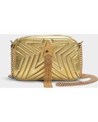 Stella McCartney - Stella Star Metallic Mini Bag In Gold Synthetic Material - Lyst