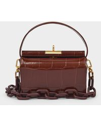 GU_DE Little Handbag Milky In Burgundy Leather - Multicolour