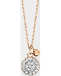 Ginette NY - Diamond Mini Ever Disc On Chain - Lyst