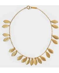 Isabel Marant Necklace Chocker El Condor In Gilt Brass - Metallic