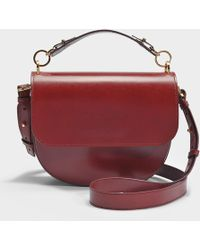 Sophie Hulme - The Bow Bag In Brown And Burgundy Cow Leather And Python - Lyst