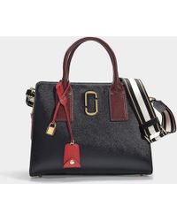 Marc Jacobs - Big Shot Bag In Black And Red Leather With Polyurethane Coating - Lyst