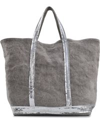 Vanessa Bruno - Sequins And Linen Medium + Tote - Lyst