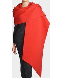 Marc Jacobs - Fleece Stole In Red Wool - Lyst