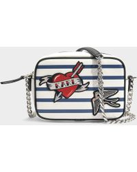 Captain Karl Crossbody Bag in Striped Technical Saffiano Karl Lagerfeld