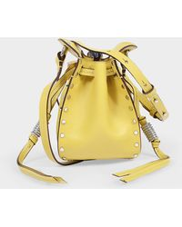 Isabel Marant Radji Bag In Light Yellow Leather