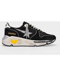 Golden Goose Deluxe Brand Running Sneakers In Black Nylon