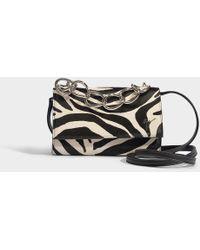 Giuseppe Zanotti - Zebra Grevy Shoulder Bag In Black And White Calfskin - Lyst