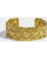 Aurelie Bidermann - Braided Cuff In 18k Gold-plated Brass - Lyst