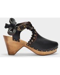 Isabel Marant Sandals Tulee In Black Leather