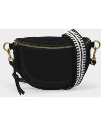 Isabel Marant Skano Belt Bag In Black Leather