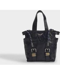 Zadig & Voltaire Tasche Bianca Nano Crush aus schwarzem Leder