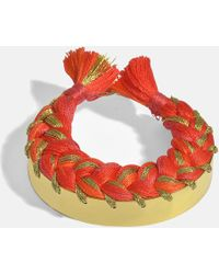 Aurelie Bidermann - Copacabana Bracelet In Geranium 18k Gold-plated Brass - Lyst