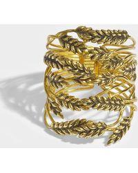 Aurelie Bidermann - Wheat Cuff Bracelet In Gold Metal - Lyst