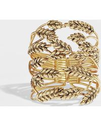 Aurelie Bidermann - Wheat Cuff Bracelet - Lyst