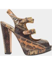 Alexander McQueen - Patch Work Peep Toe Sandal - Lyst