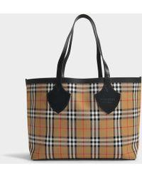Burberry - Cabas The Giant Medium en Coton Vintage Check - Lyst
