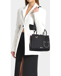 Karl Lagerfeld - K/karry All Mini Shopper Bag In Black Calfskin - Lyst