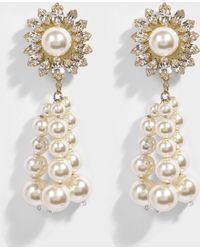 Shourouk - Palermo Crystal Earrings In White Brass, Swarovski Crystals And Pearls - Lyst