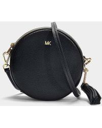 MICHAEL Michael Kors - Medium Canteen Bag In Black Calfskin - Lyst