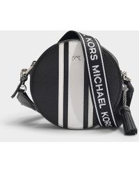 53b773c4b5e37 MICHAEL Michael Kors - Tasche Canteen Medium aus schwarz-weißem