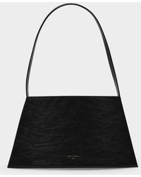 Low Classic Curve Handbag In Black Leather