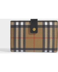 Burberry - Marylebone Flap Wallet In Black Calfskin - Lyst