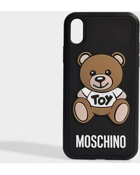Moschino - Toy Iphone Xr Case In Black Pvc - Lyst