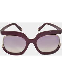 Ferragamo - New Generation Rectangle Sunglasses - Lyst