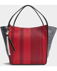 Proenza Schouler - Extra Large Tote In Red And Blue Mixed Woven - Lyst