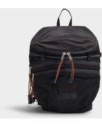 Heron Preston - Dots Ctnbm Foldable Backpack In Black Nylon - Lyst