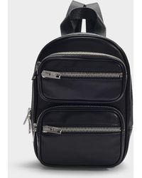 Alexander Wang Attica Soft Medium Backpack In Black Lamb Nappa Leather
