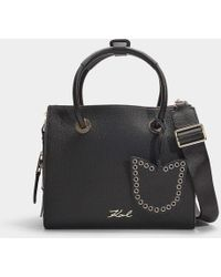 Karl Lagerfeld - K/karry All Mini Shopper Bag In Black Calfskin - Lyst
